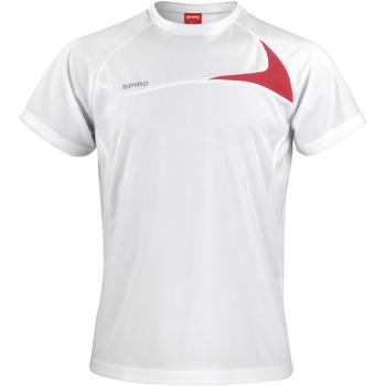 Textiel Heren T-shirts korte mouwen Spiro S182M Wit/rood