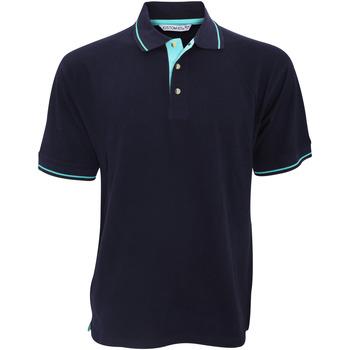Textiel Heren Polo's korte mouwen Kustom Kit KK606 Marine / Lichtblauw