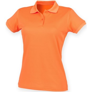 Textiel Dames Polo's korte mouwen Henbury Coolplus Gebrande sinaasappel
