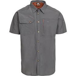 Textiel Heren Overhemden korte mouwen Trespass Lowrel Koolstof