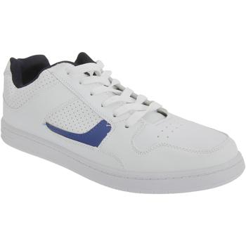 Schoenen Heren Lage sneakers Dek Euston Wit/Zwaar Blauw