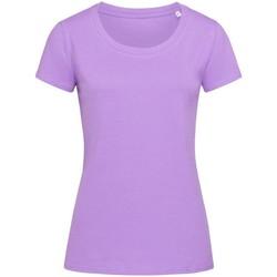 Textiel Dames T-shirts korte mouwen Stedman Stars  Lila