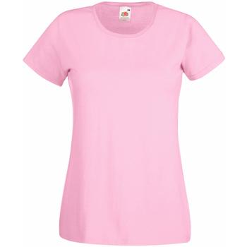 Textiel Dames T-shirts korte mouwen Universal Textiles 61372 Pastel Roze