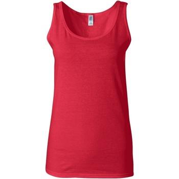 Textiel Dames Mouwloze tops Gildan 64200L Kersenrood