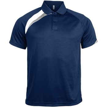 Textiel Heren Polo's korte mouwen Kariban Proact PA457 Marine / Wit / Stormgrijs
