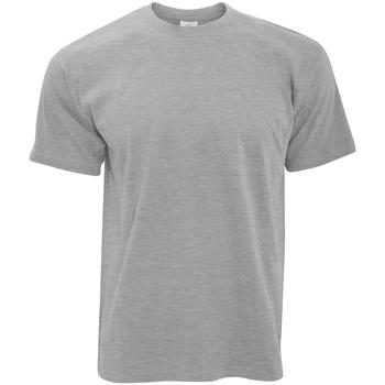 Textiel Heren T-shirts korte mouwen B And C TU004 Sport Grijs