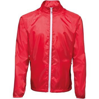 Textiel Heren Windjack 2786  Rood/wit