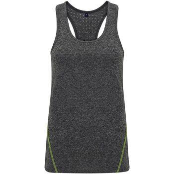 Textiel Dames Mouwloze tops Tridri TR041 Zwart gemêleerd