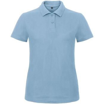 Textiel Dames Polo's korte mouwen B And C ID.001 Lichtblauw
