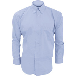 Textiel Heren Overhemden lange mouwen Kustom Kit KK105 Lichtblauw