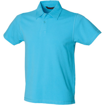 Textiel Heren Polo's korte mouwen Skinni Fit SFM42 Surf Blauw