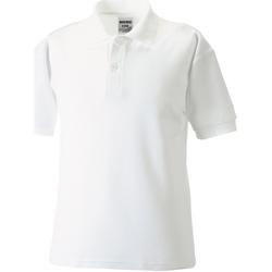 Textiel Jongens Polo's korte mouwen Jerzees Schoolgear 539B Wit