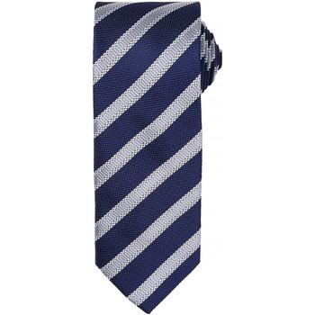 Textiel Heren Stropdassen en accessoires Premier  Marine / Zilver