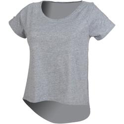 Textiel Dames T-shirts korte mouwen Skinni Fit SK233 Heide Grijs