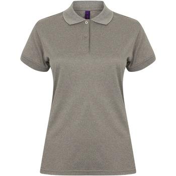 Textiel Dames Polo's korte mouwen Henbury Coolplus Heide Grijs