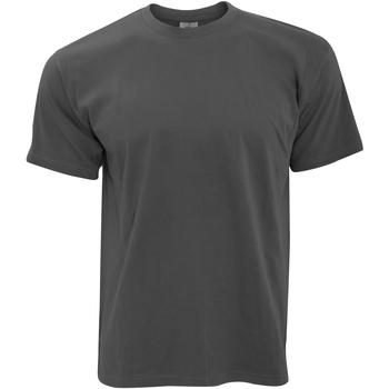 Textiel Heren T-shirts korte mouwen B And C TU004 Donker Grijs