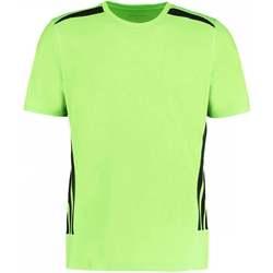 Textiel Heren T-shirts korte mouwen Gamegear KK930 Fluorescerende Kalk/Zwart