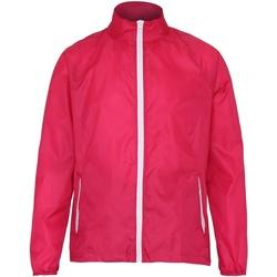 Textiel Heren Windjack 2786 TS011 Heet Roze/Wit