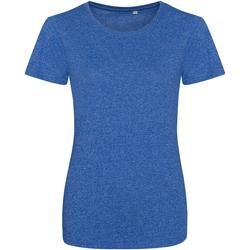 Textiel Dames T-shirts korte mouwen Awdis JT30F Ruimte Koningsblauw/Wit