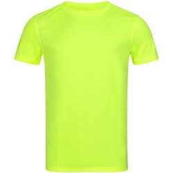 Textiel Heren T-shirts korte mouwen Stedman Mesh Geel