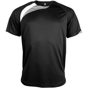 Textiel Heren T-shirts korte mouwen Kariban Proact PA436 Zwart / Wit / Stormgrijs