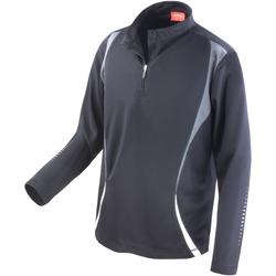 Textiel Dames Trainings jassen Spiro S178X Zwart/Grijs/Wit