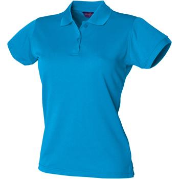 Textiel Dames Polo's korte mouwen Henbury Coolplus Saffierblauw
