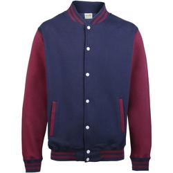Textiel Kinderen Wind jackets Awdis JH43J Marine Oxford / Bourgondië