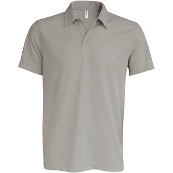 Textiel Heren Polo's korte mouwen Kariban Proact PA482 Fijn Grijs