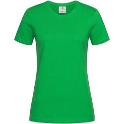 Textiel Dames T-shirts korte mouwen Stedman  Groen