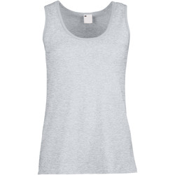 Textiel Dames Mouwloze tops Universal Textiles Fitted Grijze Mergel