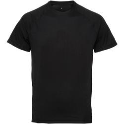Textiel Heren T-shirts korte mouwen Tridri TR011 Zwart