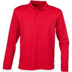 Textiel Heren Polo's lange mouwen Henbury HB478 Klassiek rood