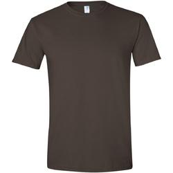 Textiel Heren T-shirts korte mouwen Gildan Soft-Style Donkere chocolade