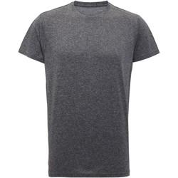 Textiel Heren T-shirts korte mouwen Tridri TR010 Zwart gemêleerd