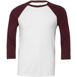 Textiel Heren T-shirts met lange mouwen Bella + Canvas CA3200 Wit/Karoen