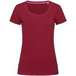 Textiel Dames T-shirts korte mouwen Stedman Stars  Bordeaux