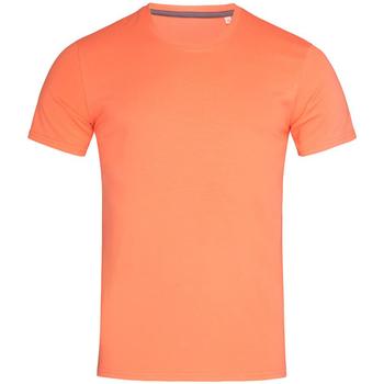 Textiel Heren T-shirts korte mouwen Stedman Stars  Zalmroze