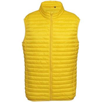 Textiel Heren Dons gevoerde jassen 2786 Fineline Helder geel