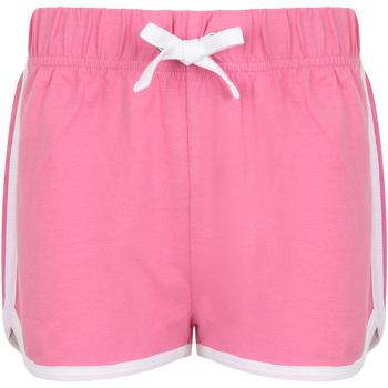 Textiel Kinderen Korte broeken / Bermuda's Skinni Fit SM069 Helder Roze/Wit