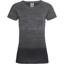 Textiel Dames T-shirts korte mouwen Stedman  Donkergrijze Overgang