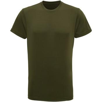 Textiel Heren T-shirts korte mouwen Tridri TR010 Olijf