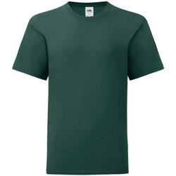 Textiel Jongens T-shirts korte mouwen Fruit Of The Loom 61023 Forest Groen
