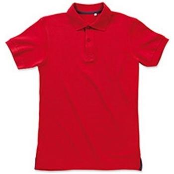 Textiel Heren Polo's korte mouwen Stedman Stars Henry Karmijnrood