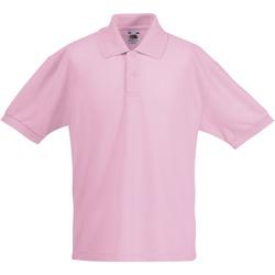 Textiel Kinderen Polo's korte mouwen Fruit Of The Loom 63417 Licht Roze