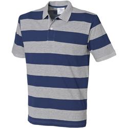 Textiel Heren Polo's korte mouwen Front Row FR210 Heide Grijs/Navy