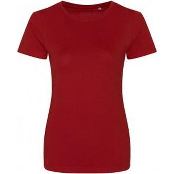 Textiel Dames T-shirts korte mouwen Ecologie EA01F Vuurrood