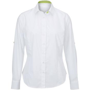 Textiel Dames Overhemden Alexandra AX060 Wit/kalk