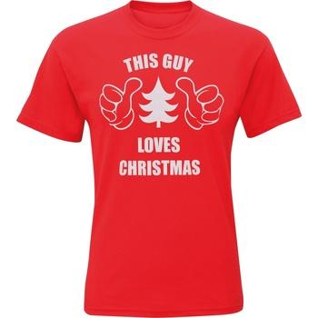 Textiel Heren T-shirts korte mouwen Christmas Shop CJ200 Rood