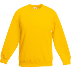 Textiel Kinderen Sweaters / Sweatshirts Fruit Of The Loom Classic Zonnebloem Geel